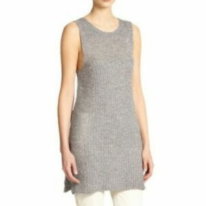Eileen Fisher Gray Metallic Tunic Size Small